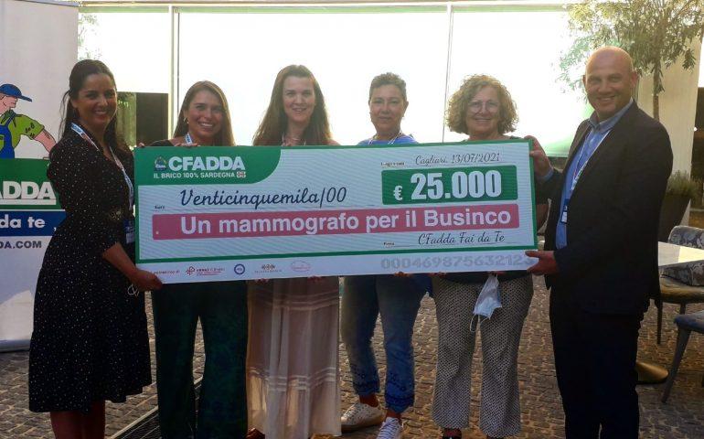 """(Video)""""Un mammografo per il Businco"""", traguardo più vicino: CFadda con lo staff e i suoi clienti raccoglie 25mila euro"""
