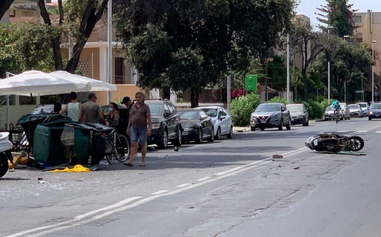 Quartu, in Viale Colombo scontro tra scooter e motocarrozzella: un ferito
