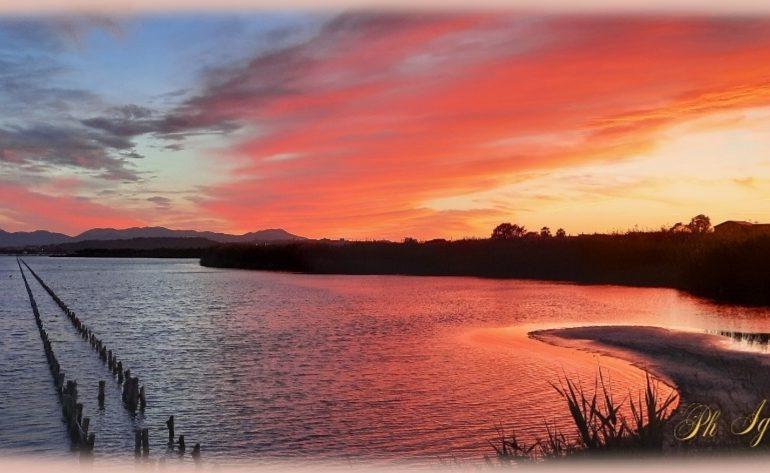 La foto. La magia del tramonto allo stagno di Molentargius: lo scatto di Ignazio Siddi