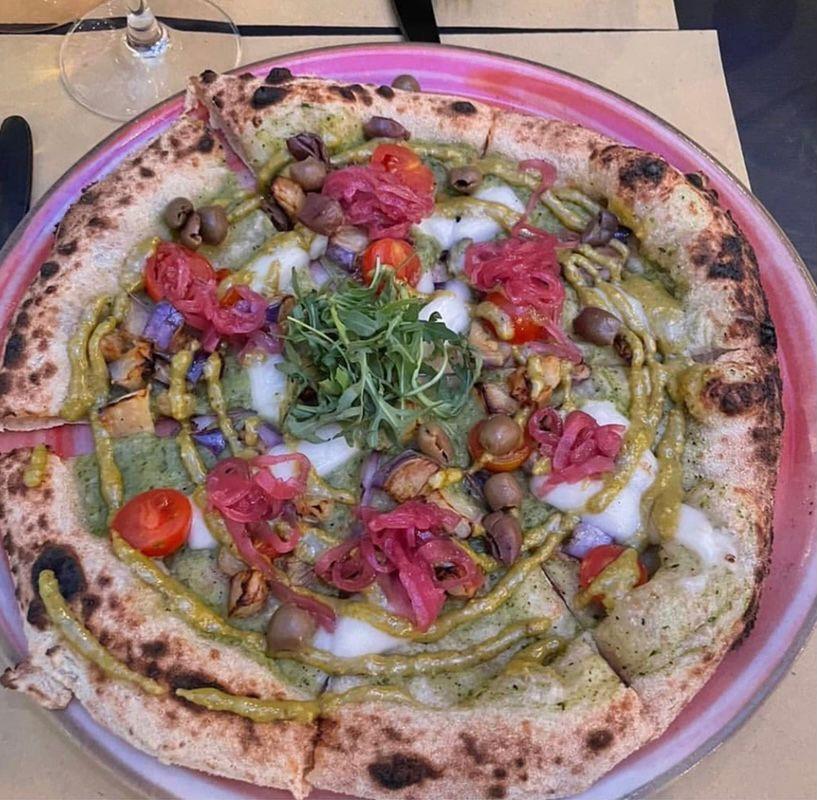 La pizza vegana di Locanda Sa Matracca