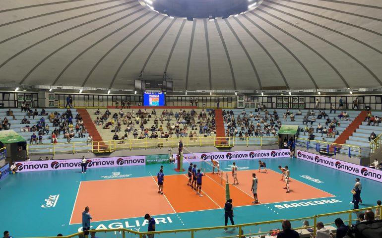 A Cagliari ieri i mondiali under 21 di volley: gli azzurrini distruggono la Thailandia