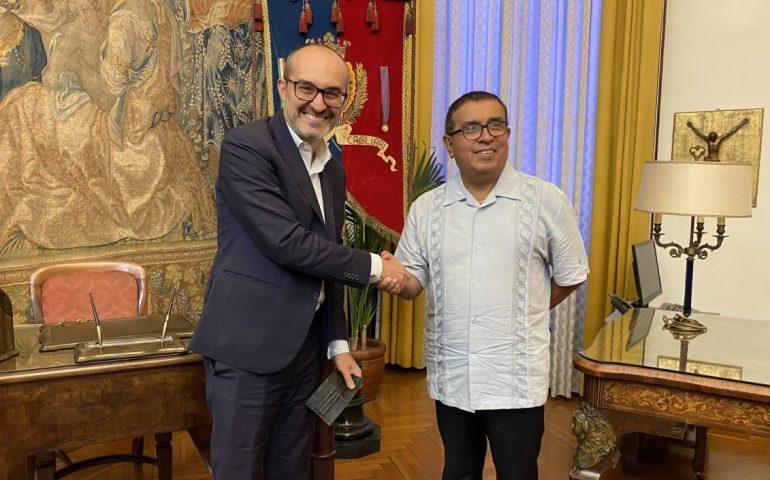 Cagliari, il sindaco Truzzu incontra l'ambasciatore di Costa Rica