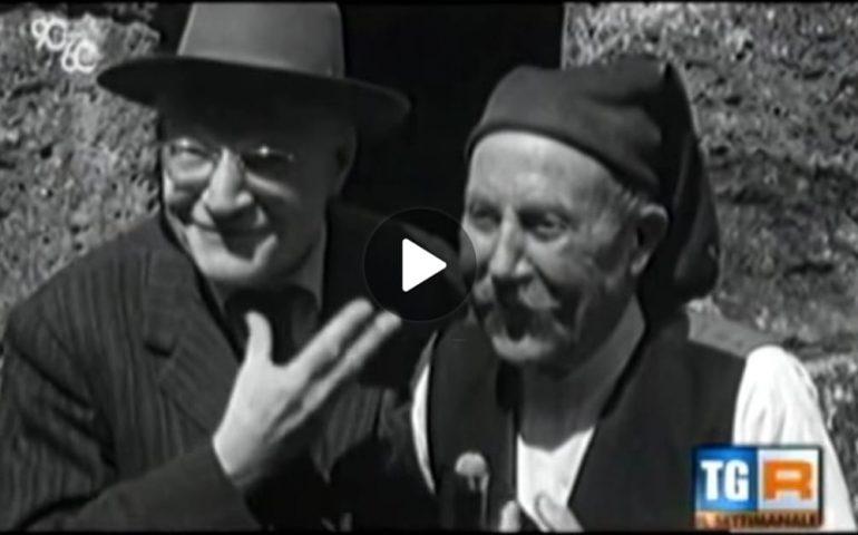 (VIDEO) Il viaggio di Ungaretti e di altri intellettuali in Sardegna nel 1955 raccontato da Tito Stagno