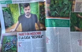 Il re delle pareti verdi, il cagliaritano Alberto Pigliacampo, sul settimanale Gente