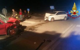 Sestu, brutto incidente sulla rotonda della 131: tre feriti