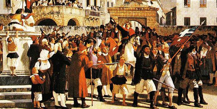 Sa Die de Sa Sardigna. Il 28 aprile 1794 i Sardi si ribellano e allontanano i Piemontesi dall'Isola