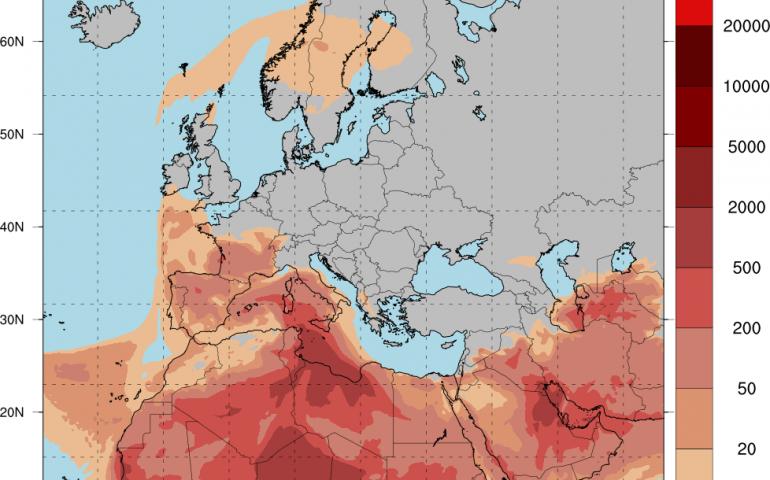 Meteo Ogliastra, Pasqua e Pasquetta senza pioggia ma cielo rosso di sabbia desertica