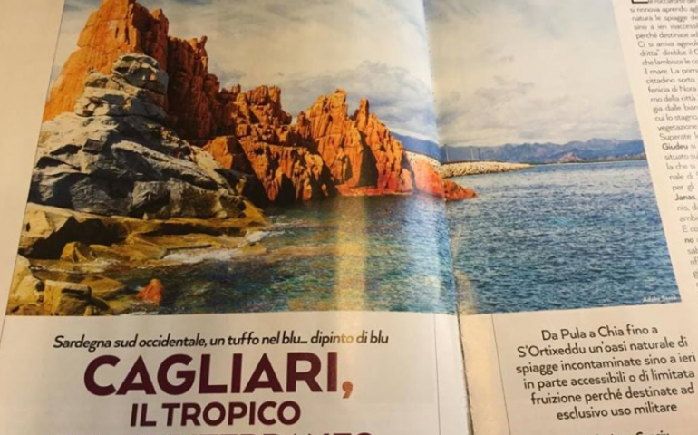 """Le Rocce Rosse di Arbatax """"trasferite"""" a Cagliari in un periodico: polemiche e ironia corrono sul web"""