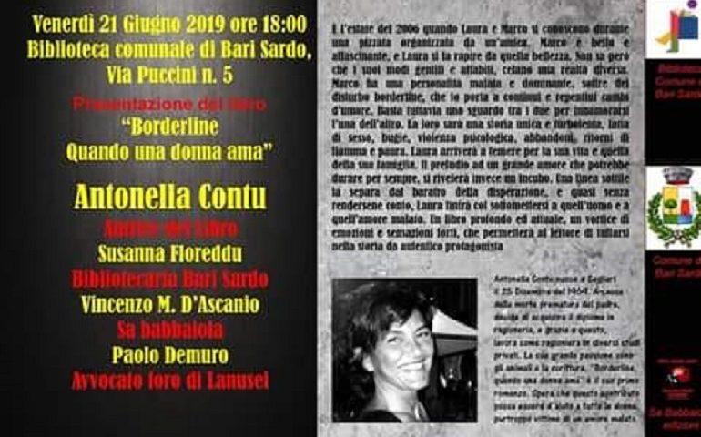 """Bari Sardo, nuovo appuntamento in Biblioteca: domani la presentazione di """"Borderline, quando una donna ama"""""""