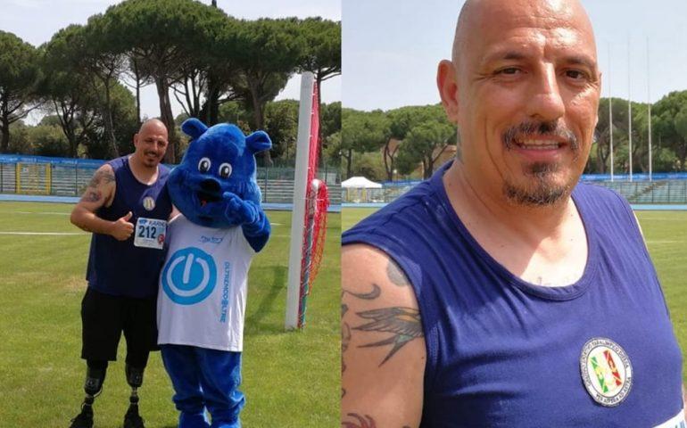 Record del mondo per il lancio del peso all'atleta paralimpico Moreno Marchetti