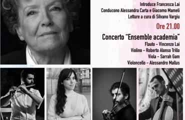 Lanusei, giovedì l'incontro con Dacia Maraini e il concerto dell'Ensemble Academia