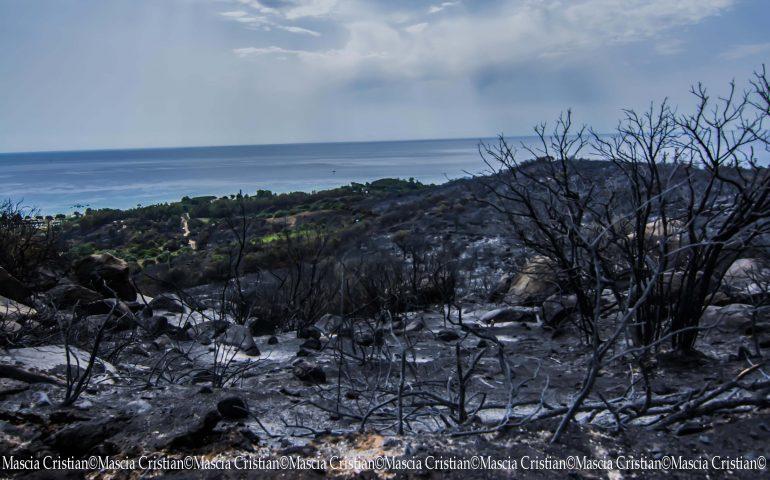 Tortolì piegata dalle fiamme. Dopo il terribile incendio la città dichiara lo stato di calamità naturale