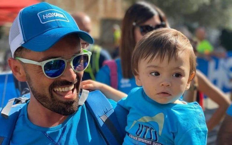 Il partecipante più piccino dell'UTSS Baunei, Riccardo Santiago: un anno e già ama lo sport