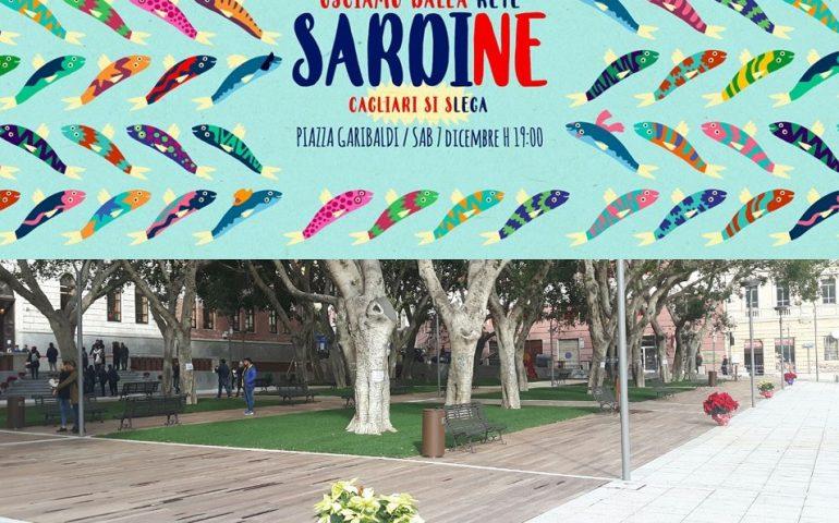 Oggi le Sardine a Cagliari: attese in piazza Garibaldi migliaia di persone