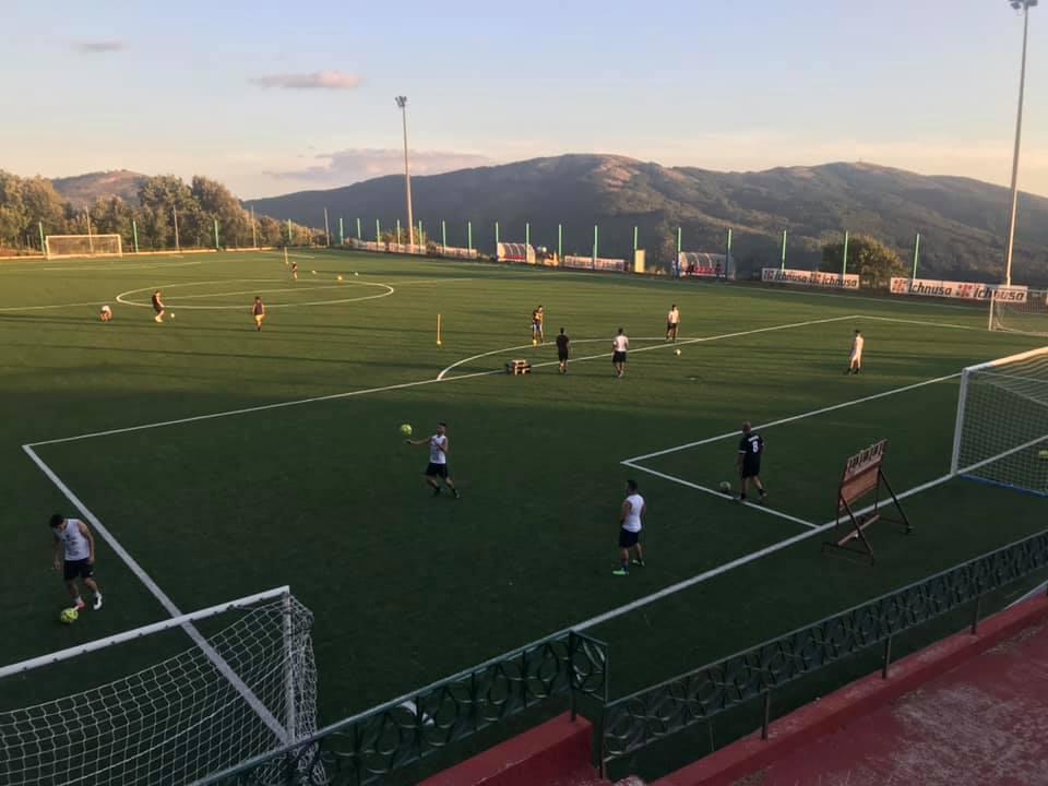 Allenamenti del Seui Arcuerì prima della chiusura del campo sportivo Burridorgiu.