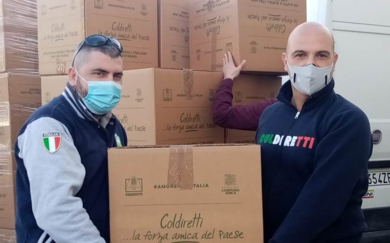 Coldiretti, aziende agroalimentari donano 52 quintali di cibo per le famiglie sarde bisognose