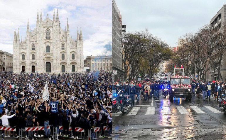 Calcio e religione, sacro e profano: quando alcuni assembramenti sono diversi dagli altri
