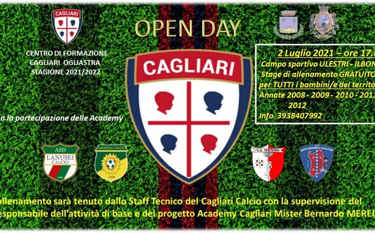 Ilbono, 2 luglio Open Day Cagliari Calcio: stage di allenamento gratuito per i bambini/e dal '08 al '12