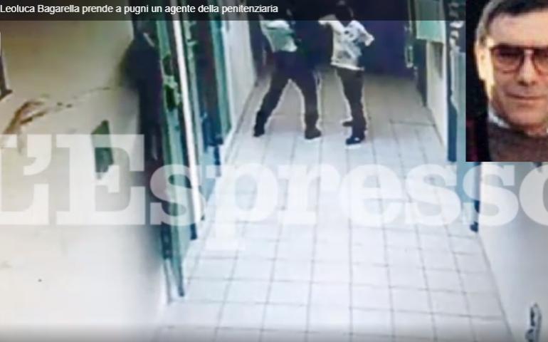 Il boss mafioso Leoluca Bagarella aggredisce un agente in un carcere sardo