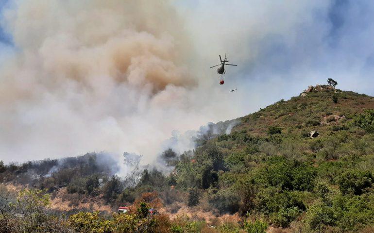 Sardegna, oggi 25 incendi hanno devastato le campagne: in 9 sono intervenuti i mezzi aerei