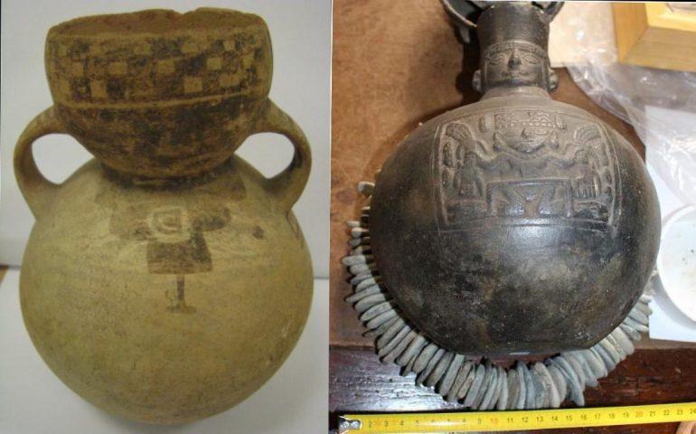 I Carabinieri per la Tutela del Patrimonio Culturale restituiscono al Perù importanti reperti archeologici