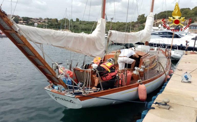 Sardegna, imbarcazione rischia di affondare: interviene il nucleo nautico dei Vigili del Fuoco