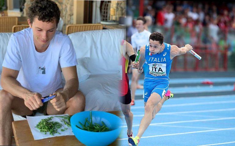 """L'autoironia di Filippo Tortu sui social: """"Da vincere le Olimpiadi a spuntare i fagiolini è un attimo"""""""