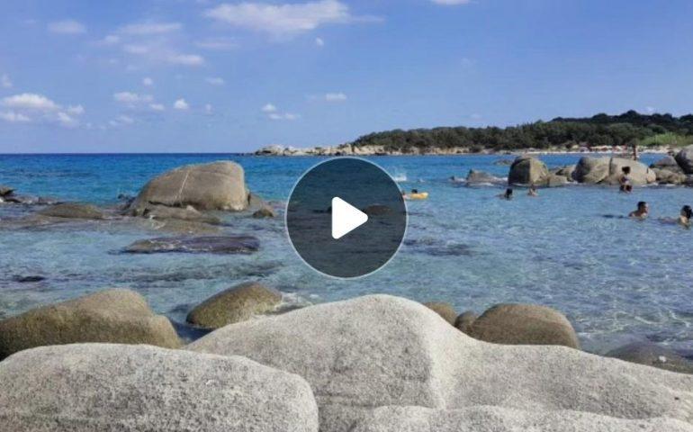 """(FOTO e VIDEO) Ogliastra, la spettacolare spiaggia """"il Golfetto"""" a settembre"""