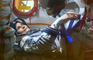 Samantha Cristoforetti, sa primu astronauta italiana intrat in sa storia