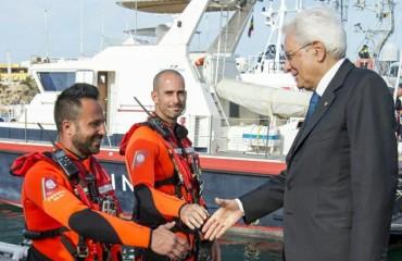 Matteo Gregorio col presidente Sergio Mattarella