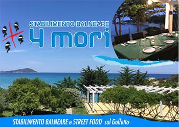stabilimento balneare street food 4 mori golfetto lido orr' tortolì arbatax mangiare cucina tipica arrosti sdraio ombrelloni servizio in spiaggia
