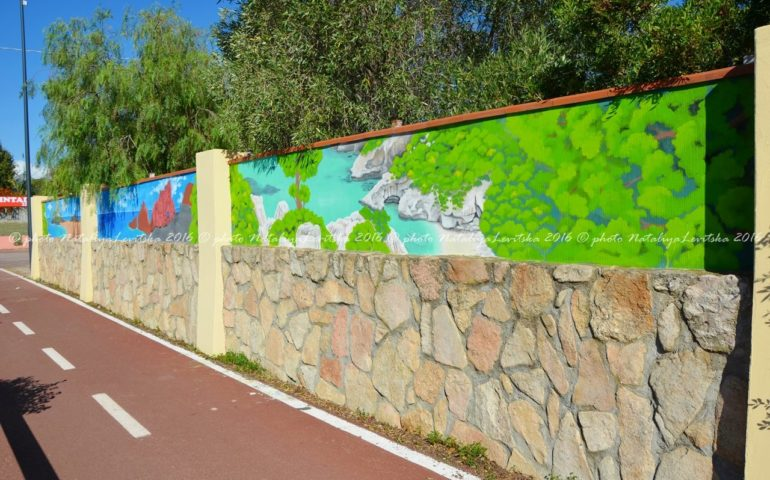 "La pista ciclabile di Girasole si trasforma in un museo ""en plein air"""