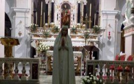La statua della Madonna di Fatima a Tortolì. Oggi la S.Messa del Vescovo Mura