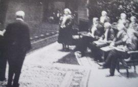 Una rara foto del momento della premiazione della scrittrice sarda.