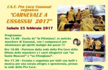 """Torna il carnevale ad Ulassai. Per le vie del centro """"is Pitiolaius"""", """"su Santu Musconi"""" e """"Sa Filongiana""""."""