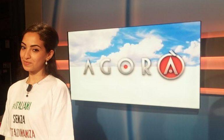 Ihlam Mounssif, la studentessa sardo-marocchina allontanata da Montecitorio, si racconta alle telecamere del programma RAI Agorà