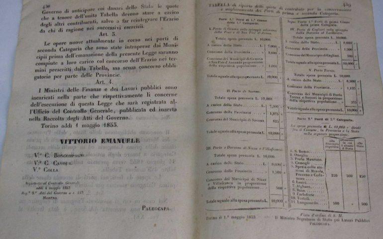 Come eravamo. Una legge del 1853 per la realizzazione del molo di levante di Arbatax
