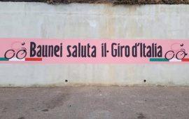 """La fotonotizia. Un murales a Baunei dedicato alla corsa rosa: """"Quando è il cuore che muove i pennelli"""""""