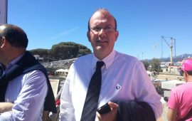 Il sindaco di Tortolì Massimo Cannas
