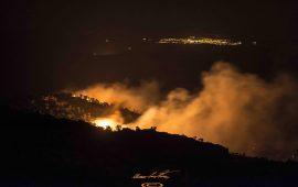 Villagrande, situazione sotto controllo, si passa alla bonifica del territorio distrutto dalle fiamme