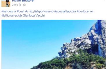 Flavio Briatore fa infuriare gli ogliastrini: su Instagram fa finire Cala Goloritzé a Porto Cervo