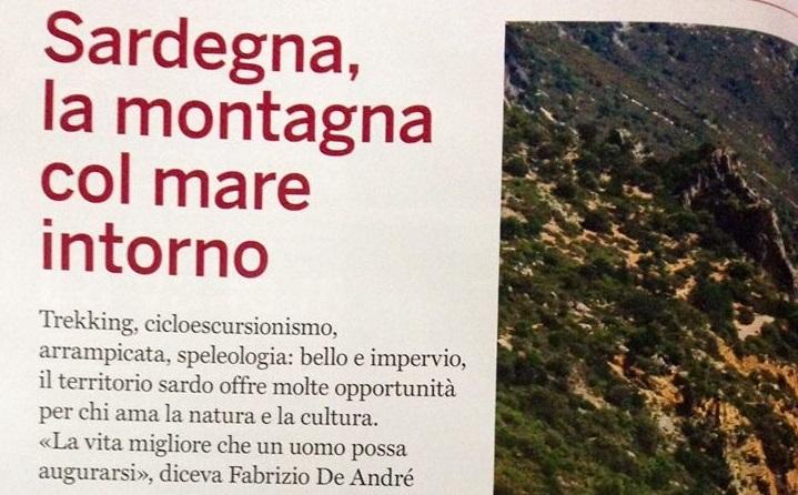 """""""Sardegna, la montagna col mare intorno"""". Baunei sulla rivista del Club Alpino Italiano di ottobre"""
