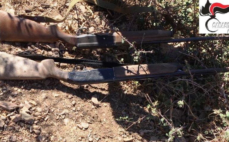 Arzana, nascondevano armi e munizioni, in manette due giovani