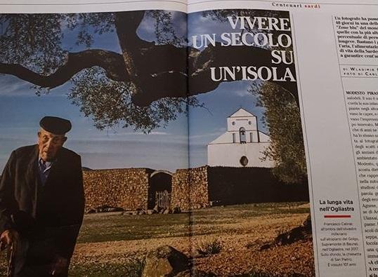 Vivere un secolo su un'isola. Il Corriere della Sera dedica uno speciale ai centenari ogliastrini
