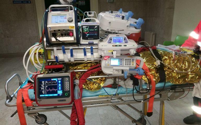 """""""Missione"""" Ecmo mobile, salvata la vita di un paziente trasportato da Lanusei a Sassari"""