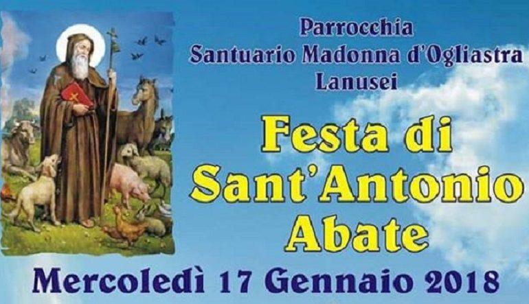 Lanusei festeggia Sant'Antonio Abate. Il 17 gennaio accensione del falò