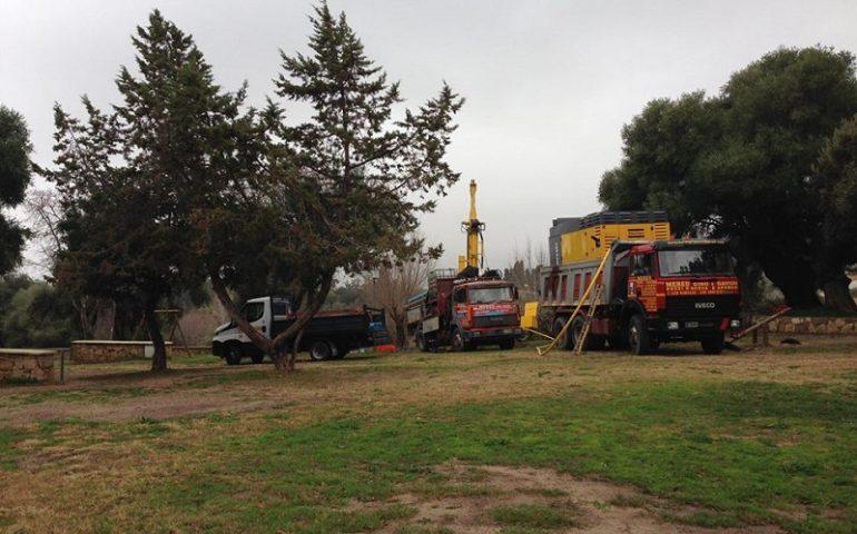 La fotonotizia: Santa Maria, al via i lavori di realizzazione del pozzo in piazza Principessa di Navarra