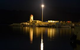 Arbatax di notte, Porto ( PH Elisabetta Puddu)