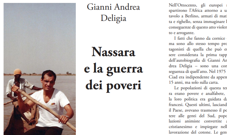 """""""Nassara e la guerra dei poveri"""". Deligia, l'ex funzionario dell'ONU innamorato dell'Ogliastra racconta gli anni in Ciad"""