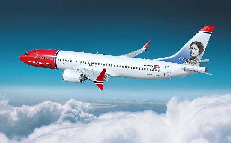 Il volto di Grazia Deledda decorerà uno dei Boeing della Norwegian